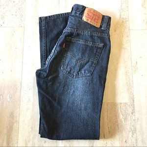 Levi's 505 Slim Cut Regular Dark Wash Jeans